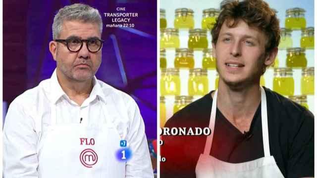 Florentino junto a Nicolás Coronado en montaje de JALEOS.