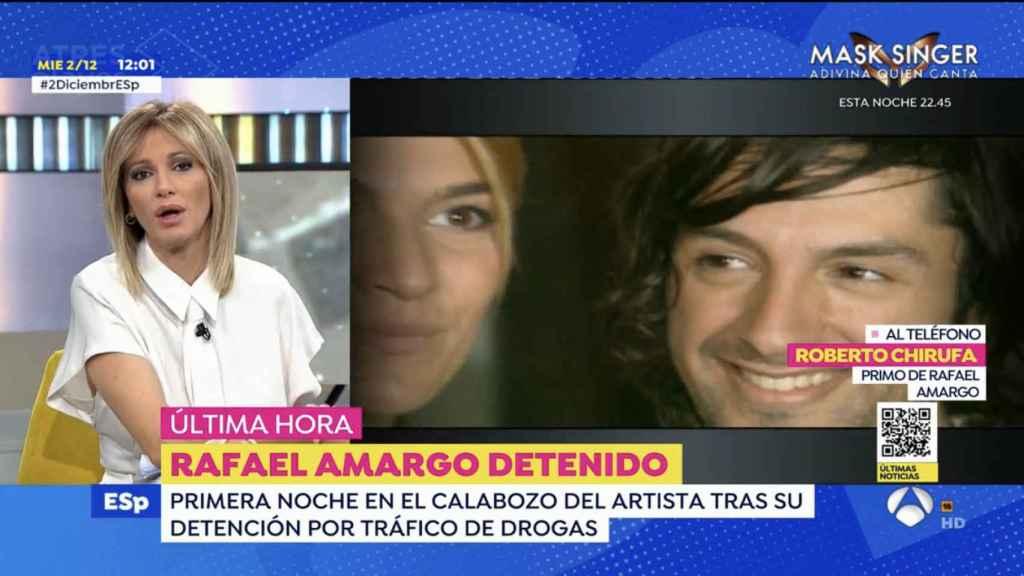 Roberto Chirufa, primo de Rafael Amargo, ha revelado en 'Espejo Público' cómo se encuentra su familia tras la noticia de la detención del bailaor.
