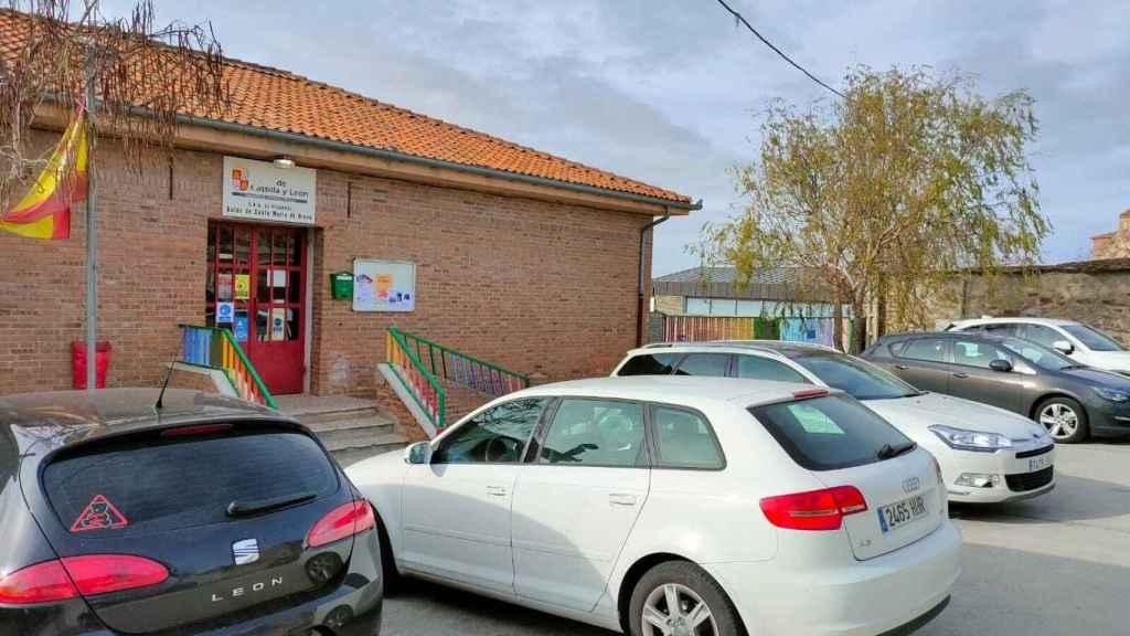 El colegio El Pizarral, al lado del juzgado y donde estaba aparcado el coche de la juez.