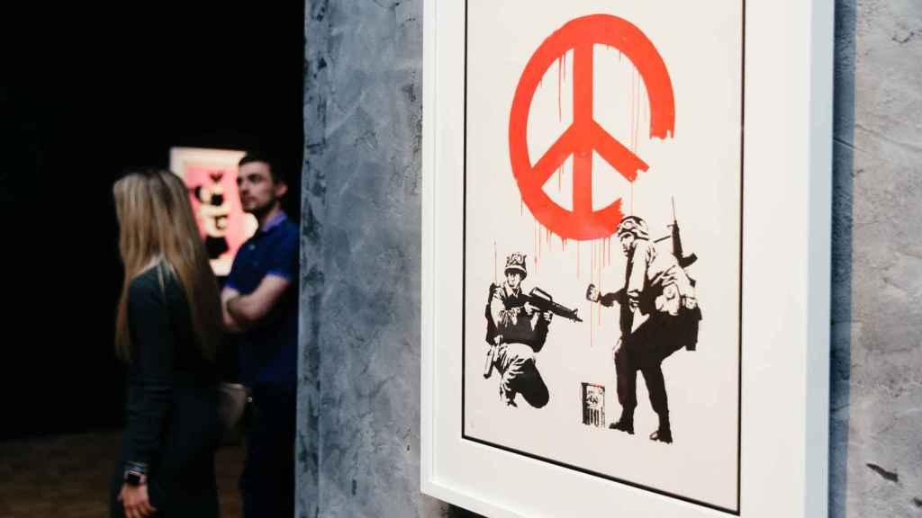 Imagen de la expo de Banksy en el Círculo.