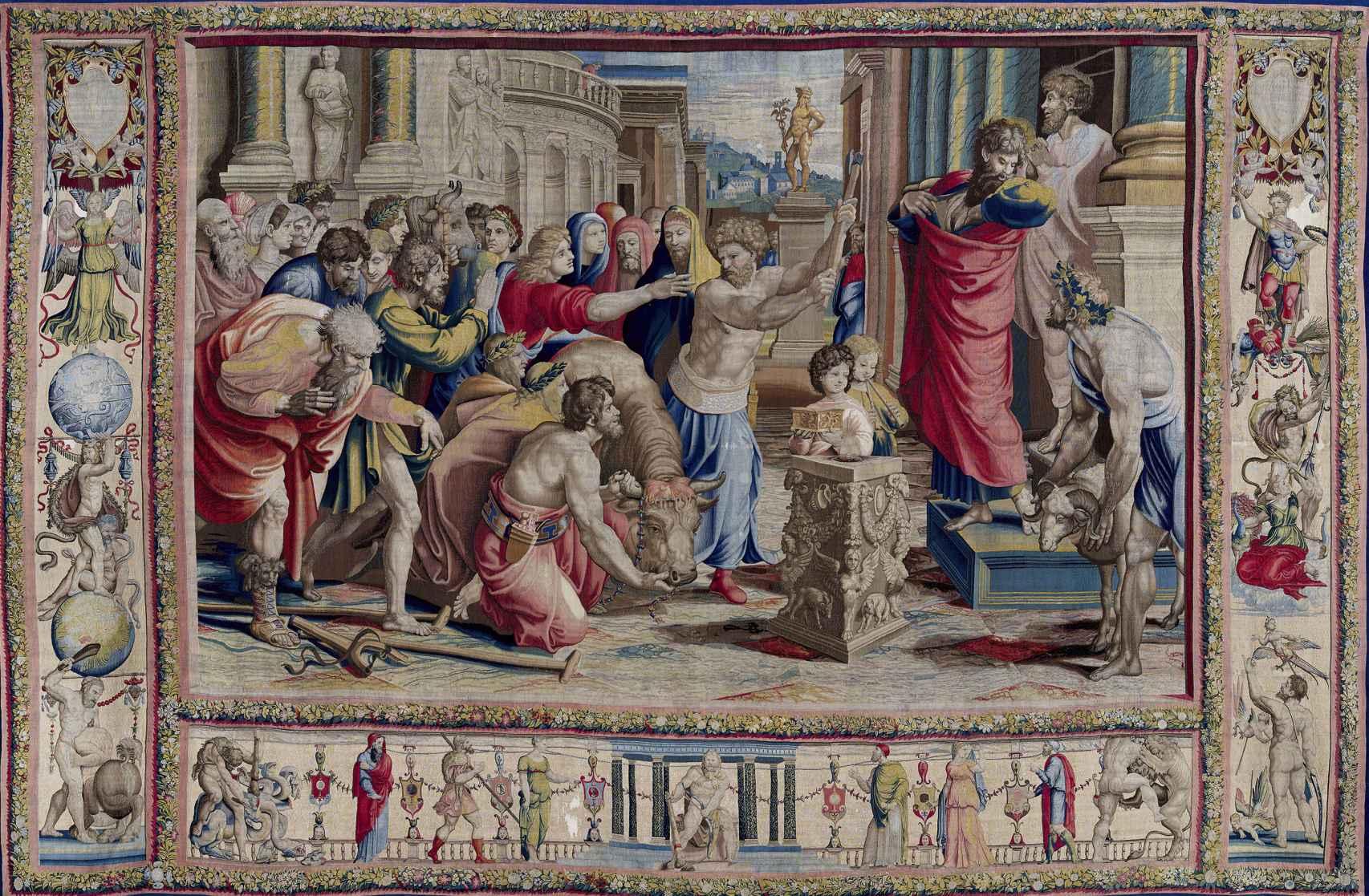 'San Pablo y san Bernabé en Lystra'.