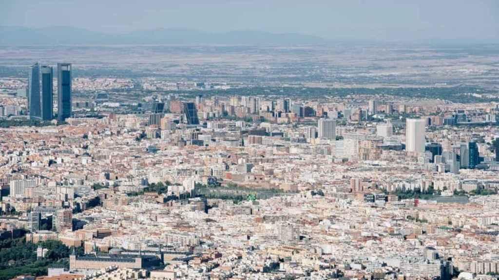 Vista aérea de Madrid.