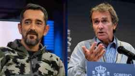 A la izquierda, Pedro Cavadas; a la derecha, Fernando Simón.