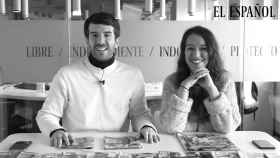Raúl Rodríguez y Cristina Rodrigo durante la grabación del kiosko.