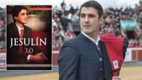 Jesulín de Ubrique en montaje de JALEOS junto a su primera biografía, 'Jesulín 3.0'.