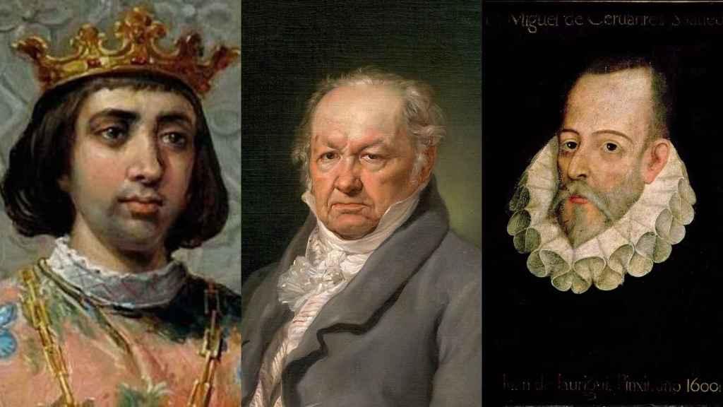 Enrique IV de Castilla, Francisco de Goya y Miguel de Cervantes.