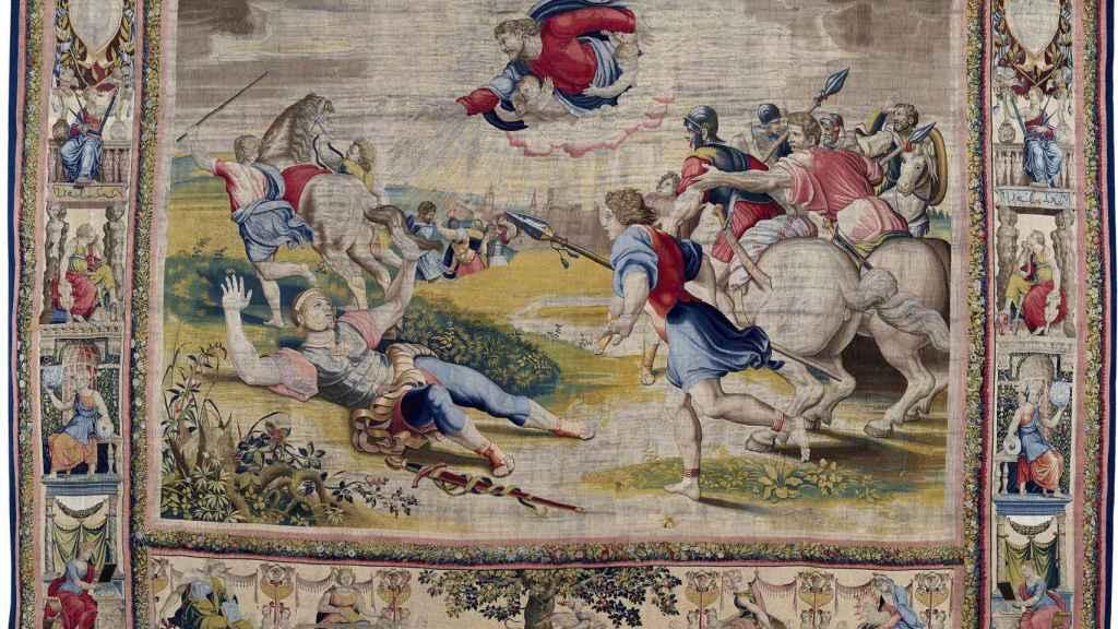 'La conversión de Saulo', uno de los tapices de Rafael.