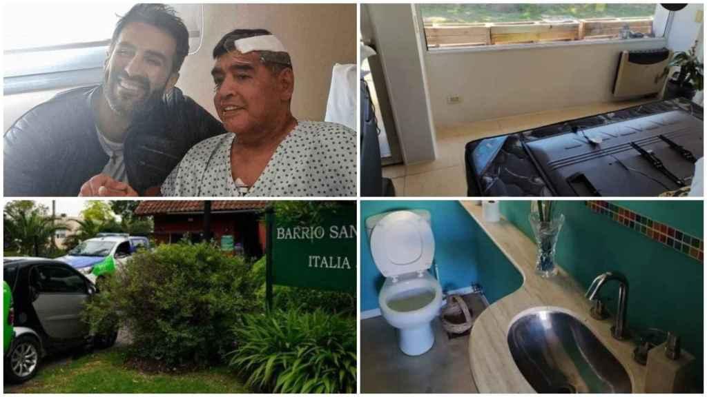 La casa en la que Diego Maradona murió