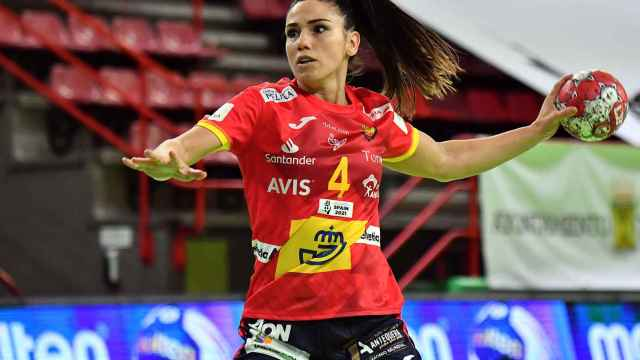 Carmen Martín, capitana de la selección española de balonmano femenino
