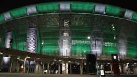 Vista general de la fachada del Puskas Arena de Budapest