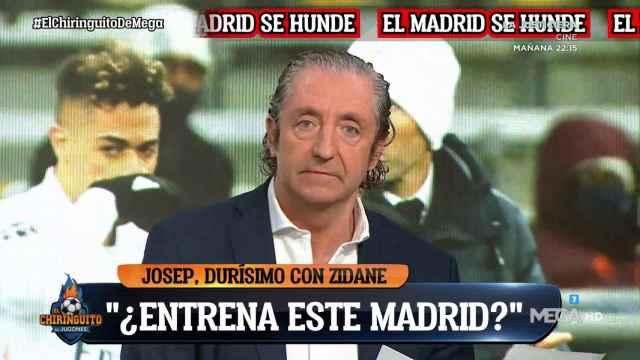 Josep Pedrerol, en El Chiringuito de Jugones. Twitter (@elchiriguitotv)