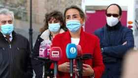 La alcaldesa de Toledo, Milagros Tolón, en un acto público este miércoles en Toledo. Foto: Óscar Huertas