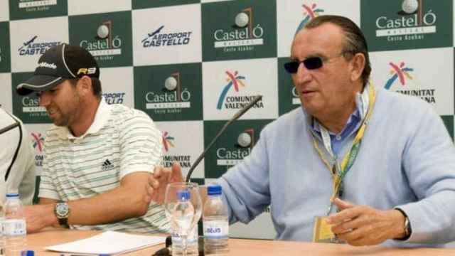 Sergio García y Carlos Fabra, en una imagen de archivo. Diputación de Castellón