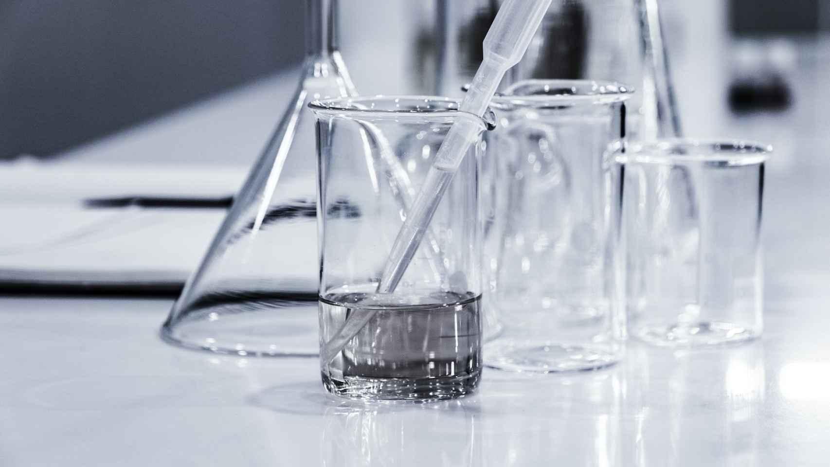 Material para realizar pruebas de laboratorio.
