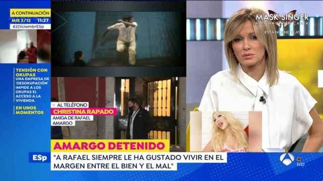 Christina Rapado ha hablado sobre la vida de Rafael Amargo en 'Espejo Público'.