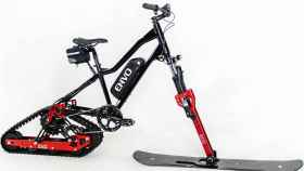 Kit de bicicleta que la convierte en una motonieve eléctrica