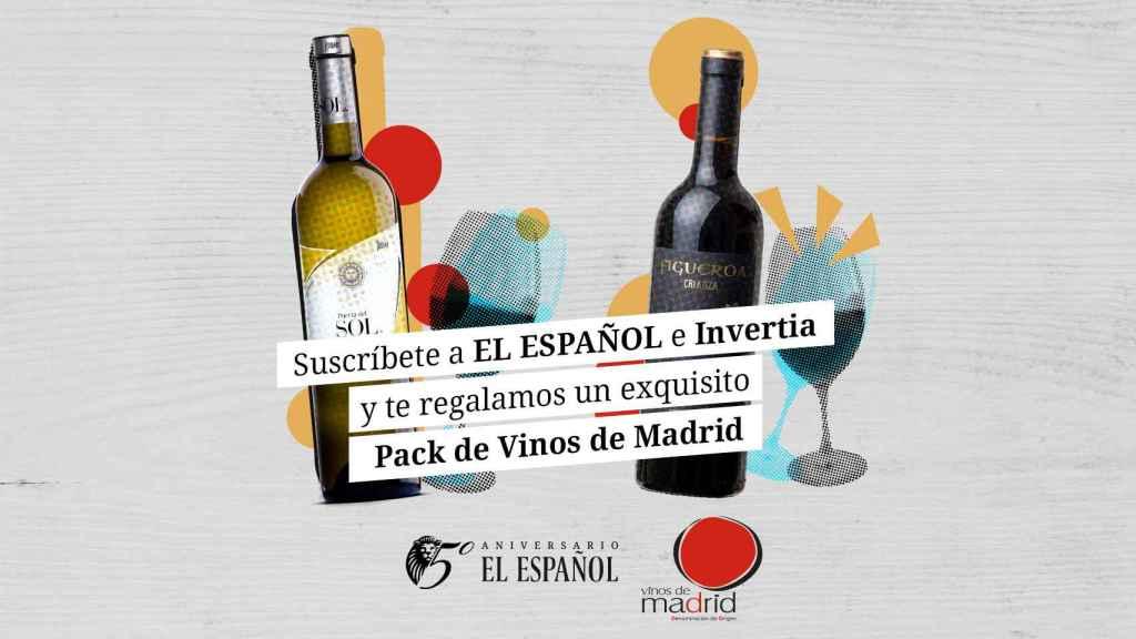 Regalo de Vinos de Madrid con tu suscripción anual a El Español e Invertia