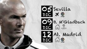 El calendario de Zidane