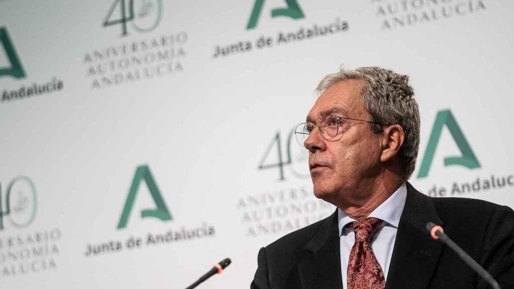 El consejero andaluz de Transformación Económica, Industria, Conocimiento y Universidades, Rogelio Velasco.