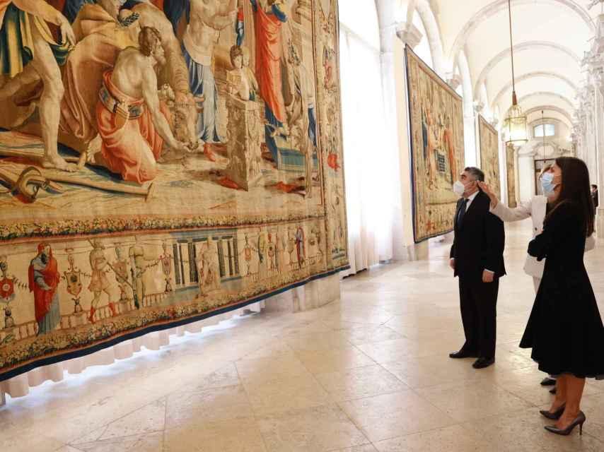 La reina Letizia presidiendo un acto institucional de agenda este jueves en Madrid.