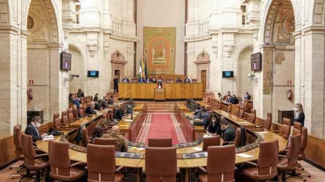 Pleno en el Parlamento andaluz.