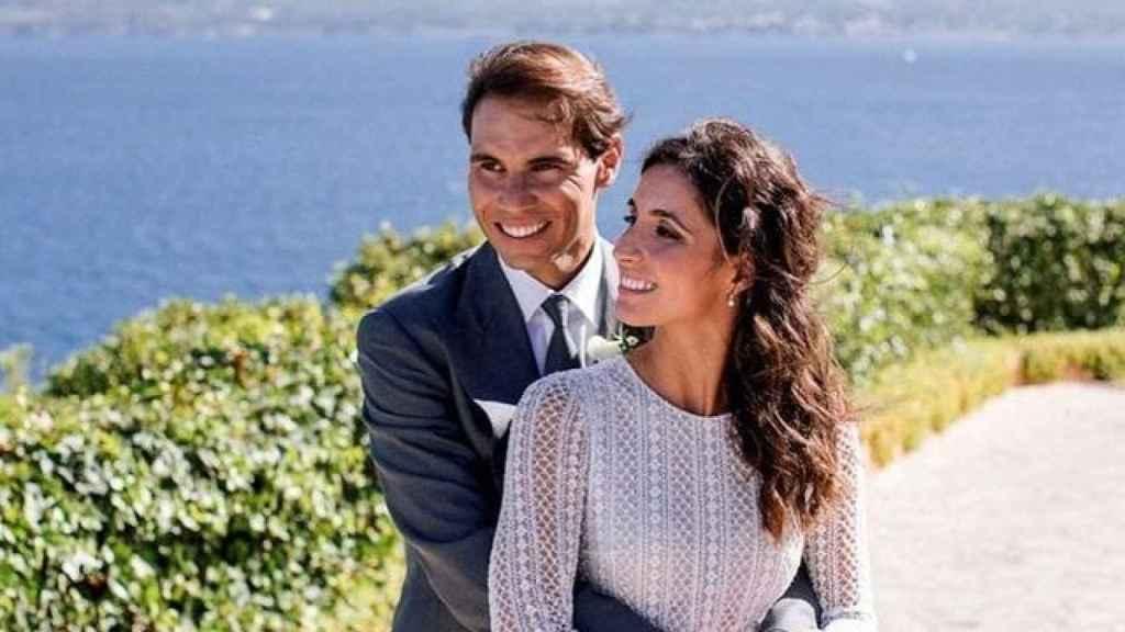 Rafa Nadal y Xisca Perelló, el día de su boda.