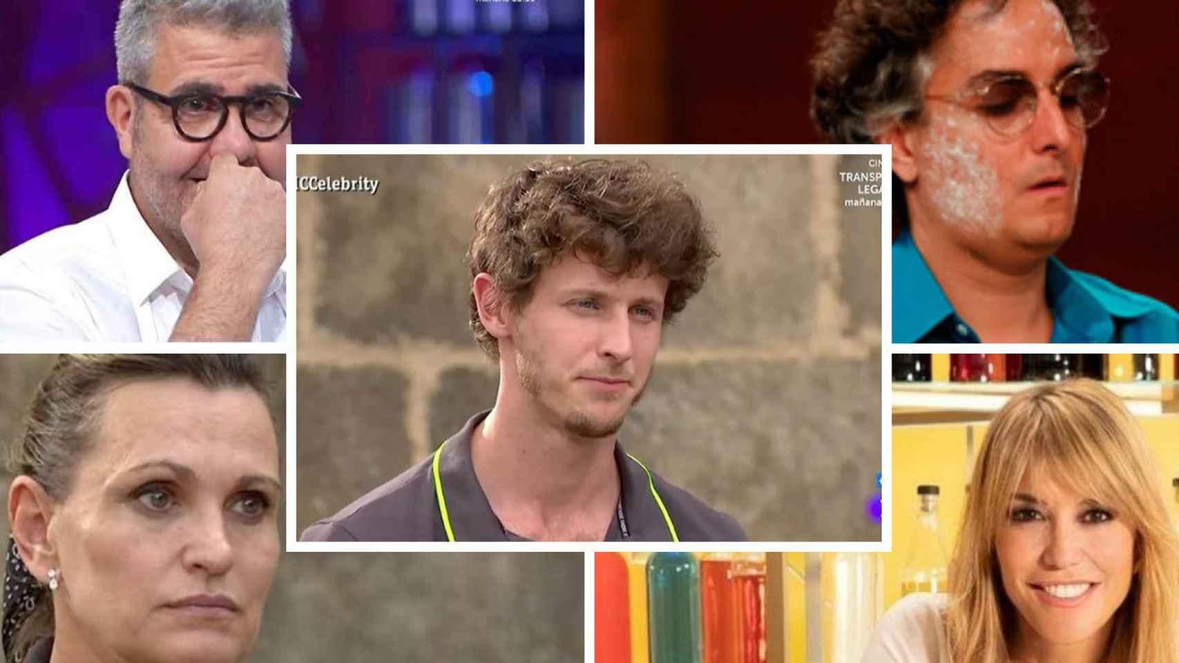 Los cinco finalistas de 'MasterChef Celebrity 5' que este martes libran su batalla final.