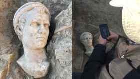 El busto de mármol hallado en Ladiocea.