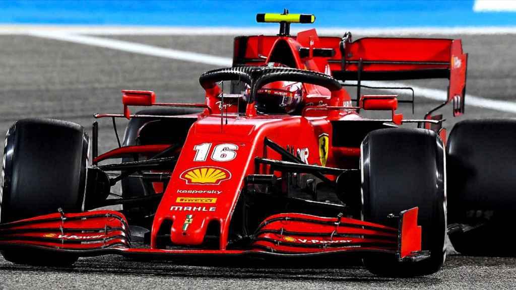 El Ferrari de Charles Leclerc en Bahrein