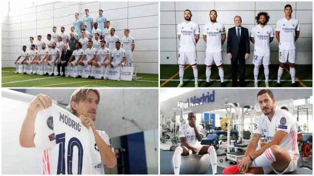 El Real Madrid se hace la foto oficial de la temporada 2020/2021: el gesto entre Florentino Pérez y Sergio Ramos