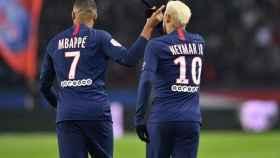Neymar y Mbappé con el PSG