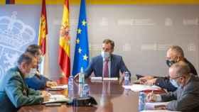El delegado del Gobierno en Castilla-La Mancha, Francisco Tierraseca, este jueves con los mandos de seguridad en la región
