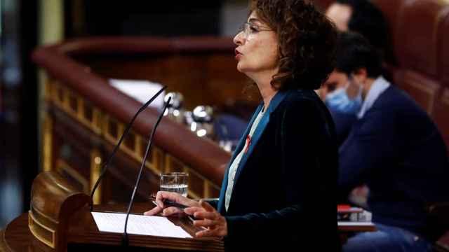 María Jesús Montero, ministra de Hacienda, en el Congreso de los Diputados.