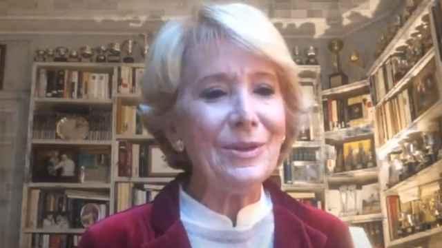 Esperanza Aguirre, expresidenta de la Comunidad de Madrid, en el Nueva Economía Fórum.