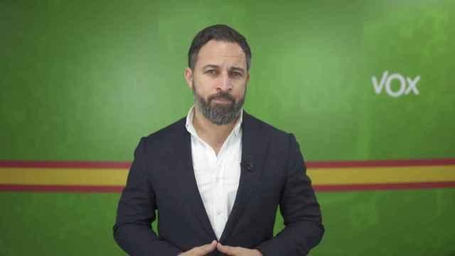 El presidente de Vox, Santiago Abascal, en el vídeo publicado por su partido este jueves.