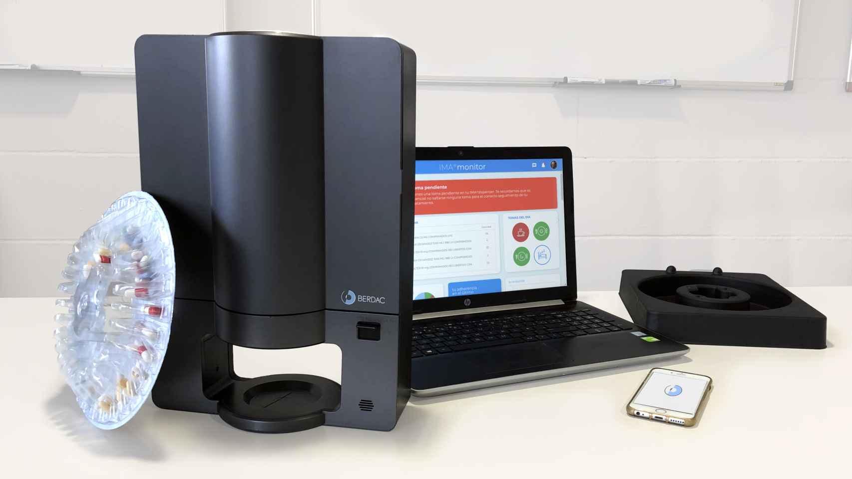 El dispensador de medicamentos desarrollado por Berdac.