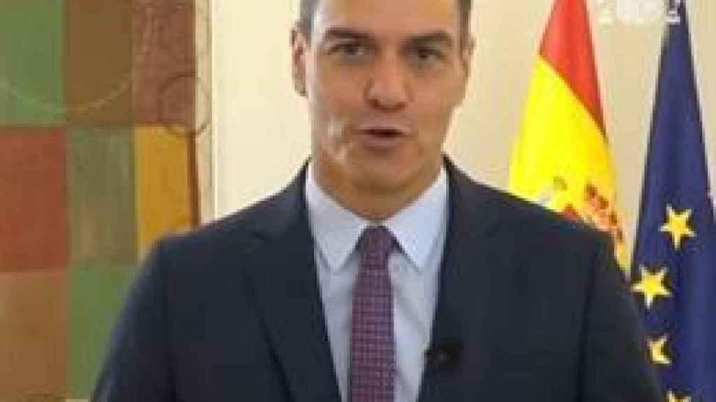Pedro Sánchez, durante su intervención de ayer en Web Summit.