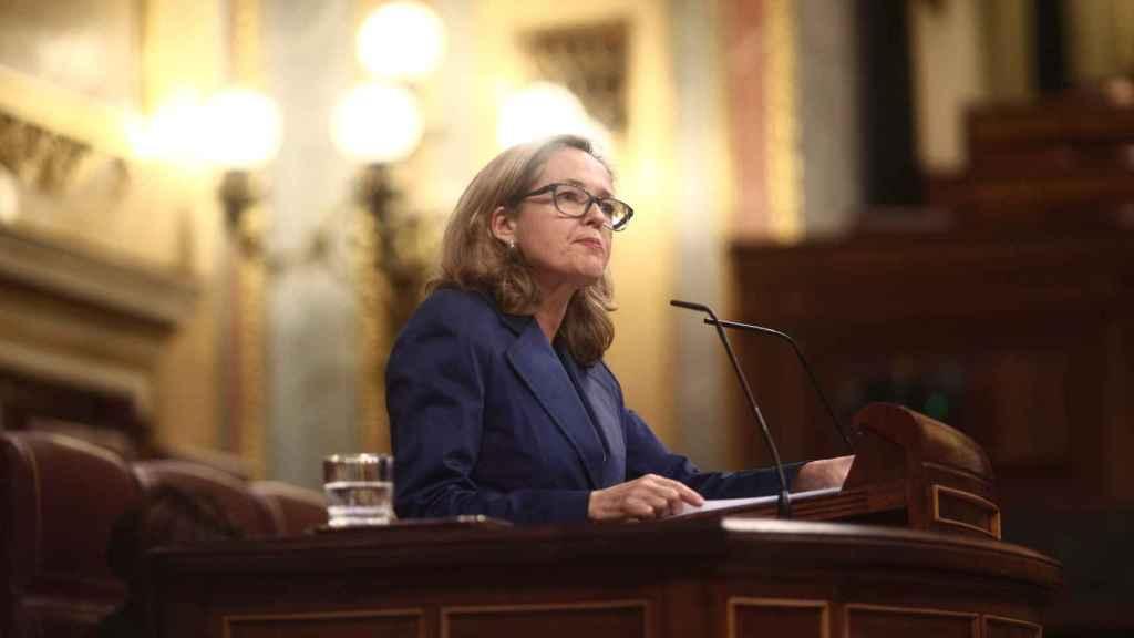 La vicepresidenta de Asuntos Económicos, Nadia Calviño.