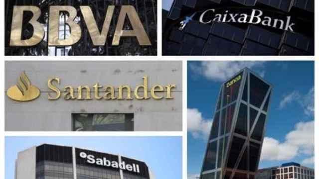 Logos de los grandes bancos españoles | EP