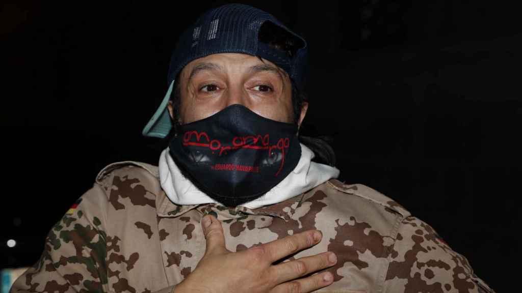 Rafael Amargo tras ser puesto en libertad.