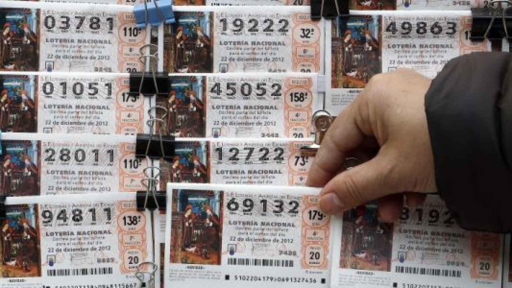 Décimos con distinta numeración para el Sorteo de Navidad de Loterías.