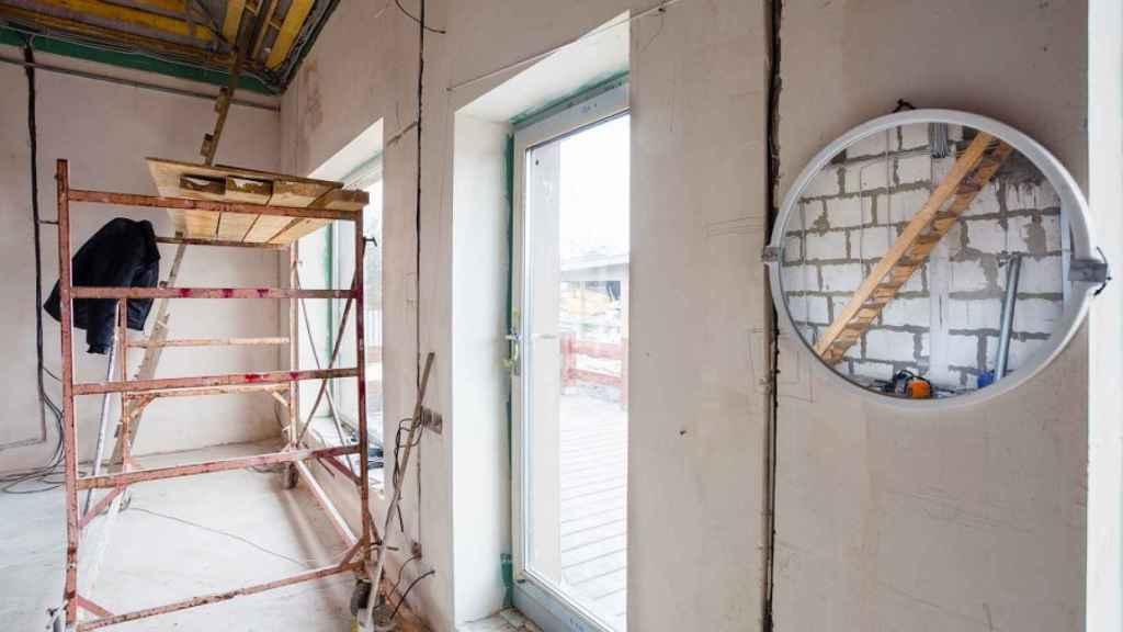 Obras de rehabilitación de una vivienda.