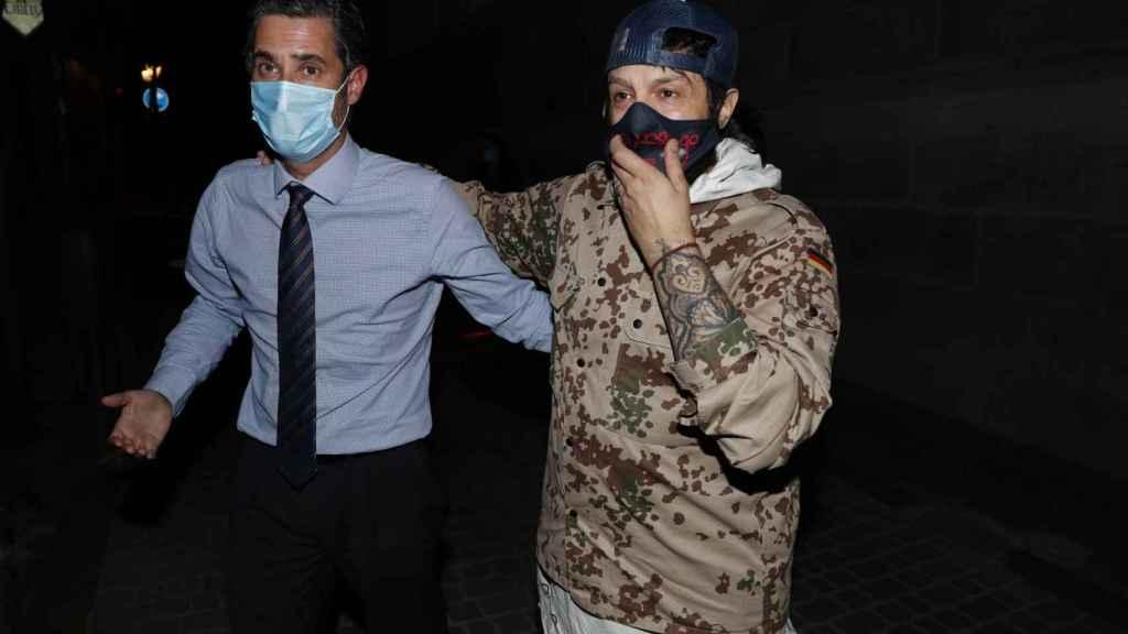 Rafael Amargo, junto a su abogado, Cándido Conde-Pumpido