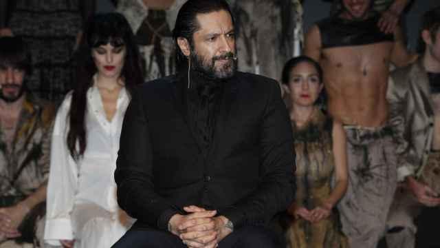Rafael Amargo en la rueda de prensa de La Latina.