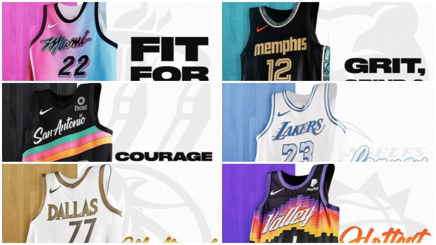 Las franquicias de la NBA presentan sus camisetas más revolucionarias para 2021