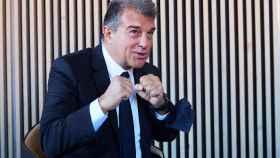 Laporta, tras presentar su candidatura a la presidencia del Barcelona
