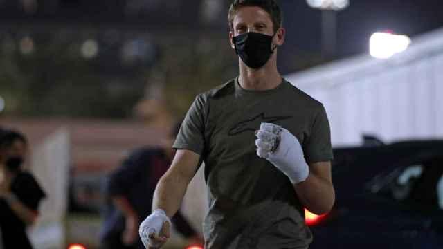 Grosjean regresa al circuito de Bahrein tras su accidente