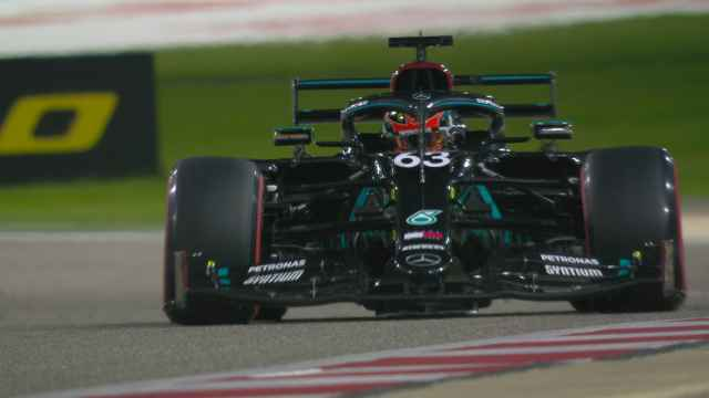 George Russell en su debut con Mercedes en Bahrein