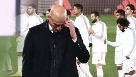 Zinedine Zidane, en un fotomontaje