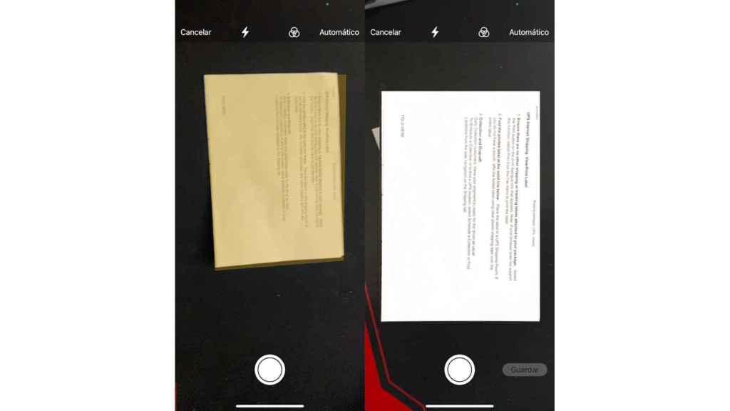 Escanear documento con el iPhone
